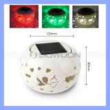 100cm Height White Solar Ceramic Cupid Garten Light Desk Lamp