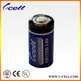 Batería de litio de voltio 2/3A de Er17335m 2200mAh 3.6 para GPS, metro de gas, metro de la calefacción por agua