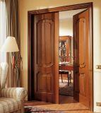 Твердая деревянная дверь для двери трудной деревянной двери аттестации Fsc входа нутряной