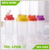 Plastikschüttel-apparatflasche des protein-600ml mit Edelstahl-Kugel