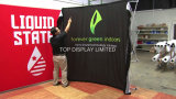 / Exhibición del telón de fondo Exhibición de la bandera Exhibición al aire libre de la venta caliente de la cinta mágica / interior