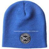 Casquillo acanalado de acrílico bordado modificado para requisitos particulares del Knit de la nieve del muchacho del sombrero de la gorrita tejida del tirón del sombrero del esquí