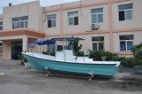 Barco del Panga de la pesca del casco de la fibra de vidrio de la costilla de la cabina de Liya los 7.6m para la venta