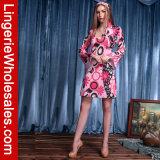 Feelin der Spaß-Weltfrauen Groovy langes Hülsen-Abendkleid-Kostüm