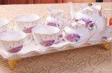 꽃 (LR-0101)를 가진 유럽 본 차이나 커피 세트