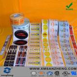 Collants adhésifs de Qr d'imprimante d'époxy de code barres d'étiquette de papier voûtée claire d'étiquette