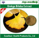Flavones van 24% 6% Lactones Natuurlijk Uittreksel van het Blad van Ginkgo Biloba