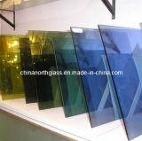 vidrio revestido teñido 6m m del control solar