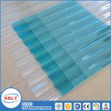 Matériau de toit transparent Matériau du toit Protection UV Feuille de polycarbonate ondulé