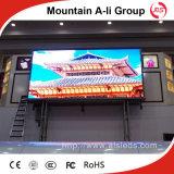 Alta pantalla de visualización a todo color al aire libre de LED del brillo P10