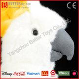 現実的な詰められた硫黄Crested Cockatooの柔らかい鳥のプラシ天のオウムのおもちゃ