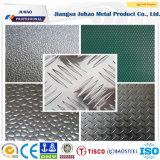 Placa de aço inoxidável perfurada antiderrapante gravada