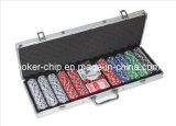 набор микросхем покера 500PCS в алюминиевом случае