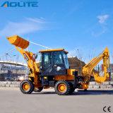 Cargador de la retroexcavadora de la rueda de Aolite 1000kg de la marca de fábrica para la venta