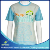 Camisas do tiro da luva do Short do Lacrosse da menina Sublimated costume