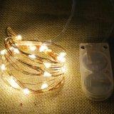 Свет белого или теплого шнура обеда рождества венчания белизны СИД Fairy с малой батареей Cr2032