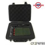 Neuestes bewegliches Signal WiFi RadioLojack des Hanheld Leistungs8-kanal- Mobiltelefon-2g 3G 4G G/M CDMA Hemmer, 3G 4G Handy, Lojack 173MHz, RC433/315MHz GPS Hemmer