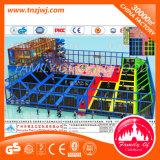 Rückstoss-springendes Kind-Zonen-Spiel-Mitte-Trampoline-Bett mit Netz