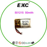 무선 Headset Battery 501215 Li Po Battery 3.7V 50mAh Cell