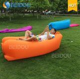Único da cadeira preguiçosa do sofá do Lounger do ar do sono da boca DIY saco preguiçoso de dobramento inflável iluminado diodo emissor de luz