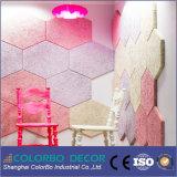 El panel de pared acústico de la fibra incombustible de las lanas de madera de Shangai