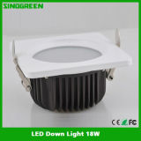 세륨 FCC RoHS UL High Quality LED Down Light 18W