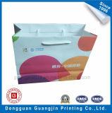 Qualitäts-Grün gedruckte Packpapier-Einkaufstasche mit Geschenk-Marke