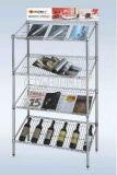 本およびマガジンのための調節可能なクロムNSFによって傾けられる陳列だな