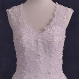 Real Photos Lace Beads Tulle A-Line Wedding Dresses (TM-AL133)