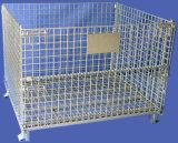 堅い金属線のバスケットの網の容器パレットケージのLforの産業倉庫の記憶