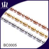 Diverses chaînes de talon de bille d'acier inoxydable en métal de couleur