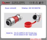3 Schakelaar van de Kabel van de Adapter van de Macht van de Stop van de speld de Mannelijke M24 Universele