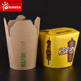 Papel de Kraft impreso marca de fábrica de la caja de los tallarines del alimento de la insignia de Customer Company