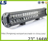 23inch 144W 4X4 per il Wrangler LED della jeep fuori dalla barra chiara dell'automobile della strada