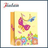 Mariposa y flores de papel de marfil de la manera Bolsa de papel del regalo del portador de compras