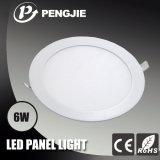Luz de teto branca quente do diodo emissor de luz da venda 6W com o RoHS (redondo)