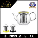 Teiera di vetro di vendita calda di Handblown del Borosilicate con acciaio inossidabile Infuser