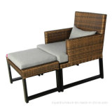 Hôtel de haute qualité en plein air Mobilier de loisirs PE Resin Rattan Wicker Lounge Chair