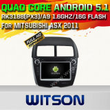 Carro DVD GPS do Android 5.1 de Witson para Mitsubishi Asx 2011 com sustentação do Internet DVR da ROM WiFi 3G do chipset 1080P 16g (A5727)