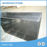 Mongolia Black Granite Prefab Kitchen Top Countertop