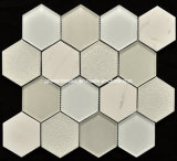 Hielo Crackle Ceramic y Glass Mosaic Tile con 8m m Thickness (OYT-S013)