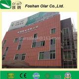 Panneau de façade de revêtement de la colle de fibre--Matériau de construction ignifuge