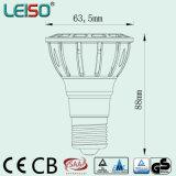 7W único LED PAR20 con CE y RoHS de 98ra 2700k