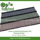 Telha de telhado de aço revestida de pedra colorida (WoodenType)