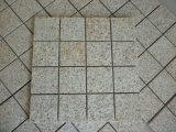 Ржавый желтый камень Cobble камня кубика вымощая камня гранита гранита G682 бежевый