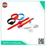 Wristband do silicone com microplaqueta de Rfic, Icode Slix e tão assim