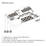 Индикация Xy-207 скорости Hud OBD индикации головки автомобиля поднимающая вверх