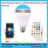 Diodo emissor de luz esperto Light Bulb de Bluetooth Speaker com Remote Control