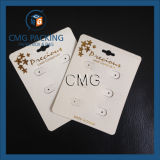 Bege Plastic Golden Hot Stamping Earring Card (CMG-104)