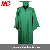 Vert en gros de Kelly de gland de robe de chapeau de graduation de lycée